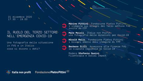 IL RUOLO DEL III SETTORE NELL'EMERGENZA COVID, una fotografia della situazione in Italia e in FVG