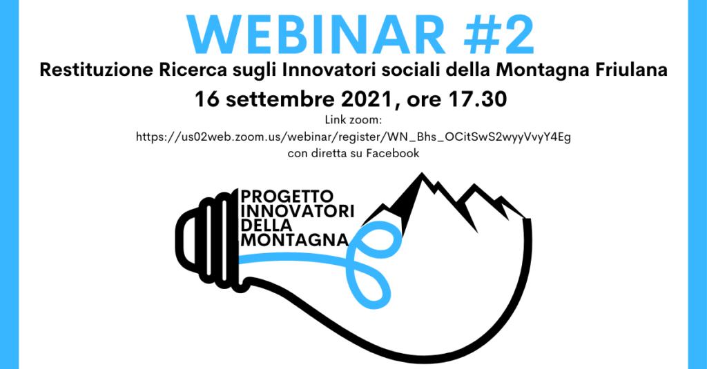 WEBINAR #2 – Innovatori sociali della montagna friulana